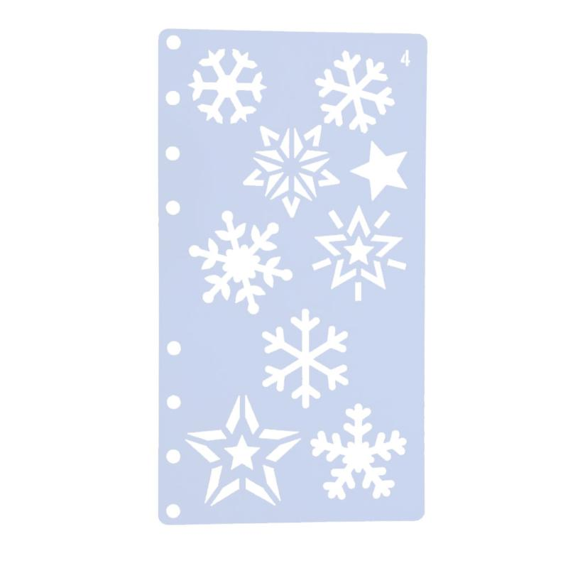 800x800 Snowflake Style Plastic Hollow Stencils Fashionable A6 Page