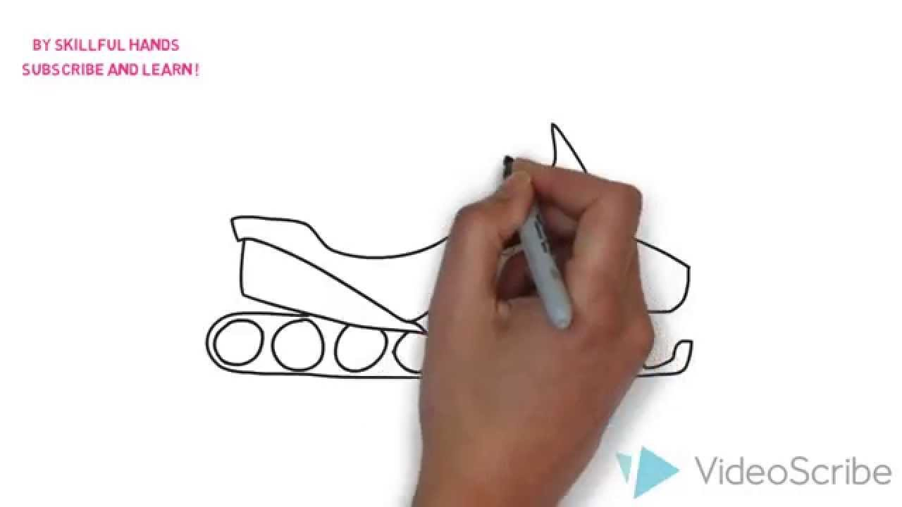 1280x720 How To Draw A Snowmobile