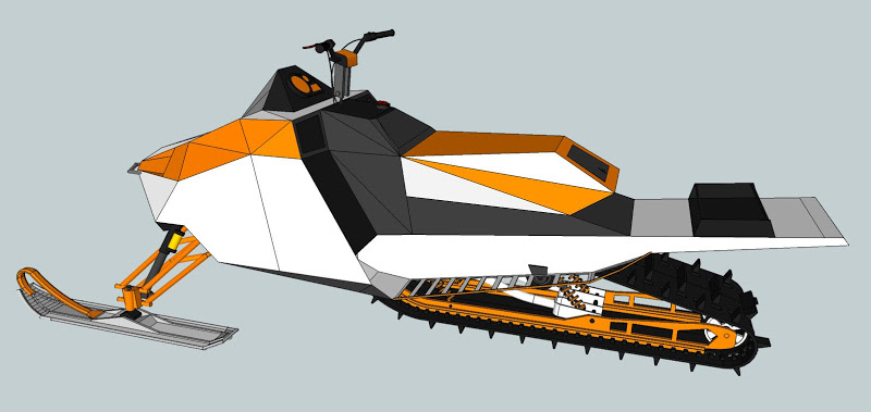 800x379 Mountain Snowmobile Cad Drawing