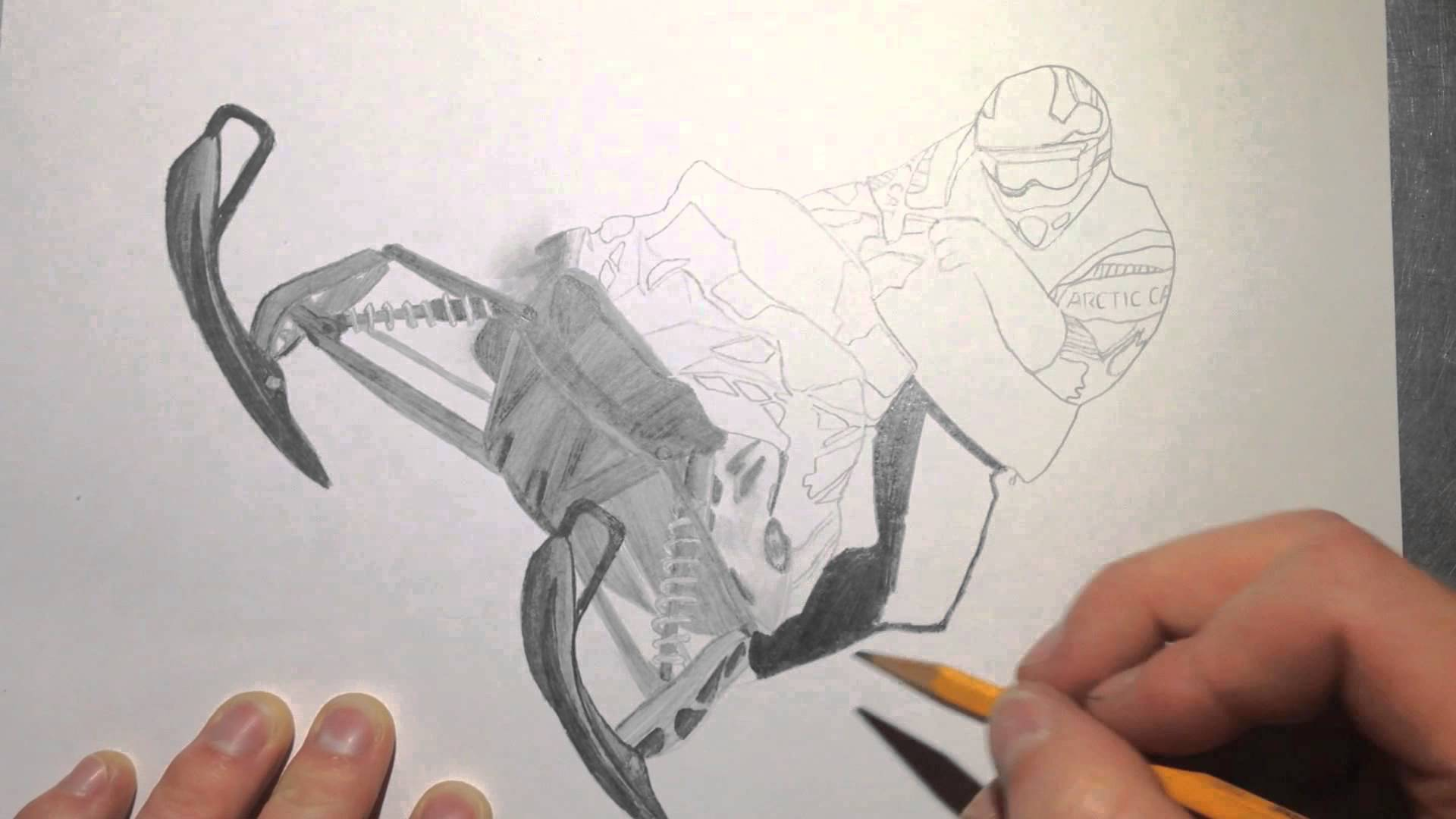 1920x1080 Snowmobile Drawing Time Lapse