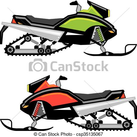 450x451 Snowmobile Vector Clip Art Vector