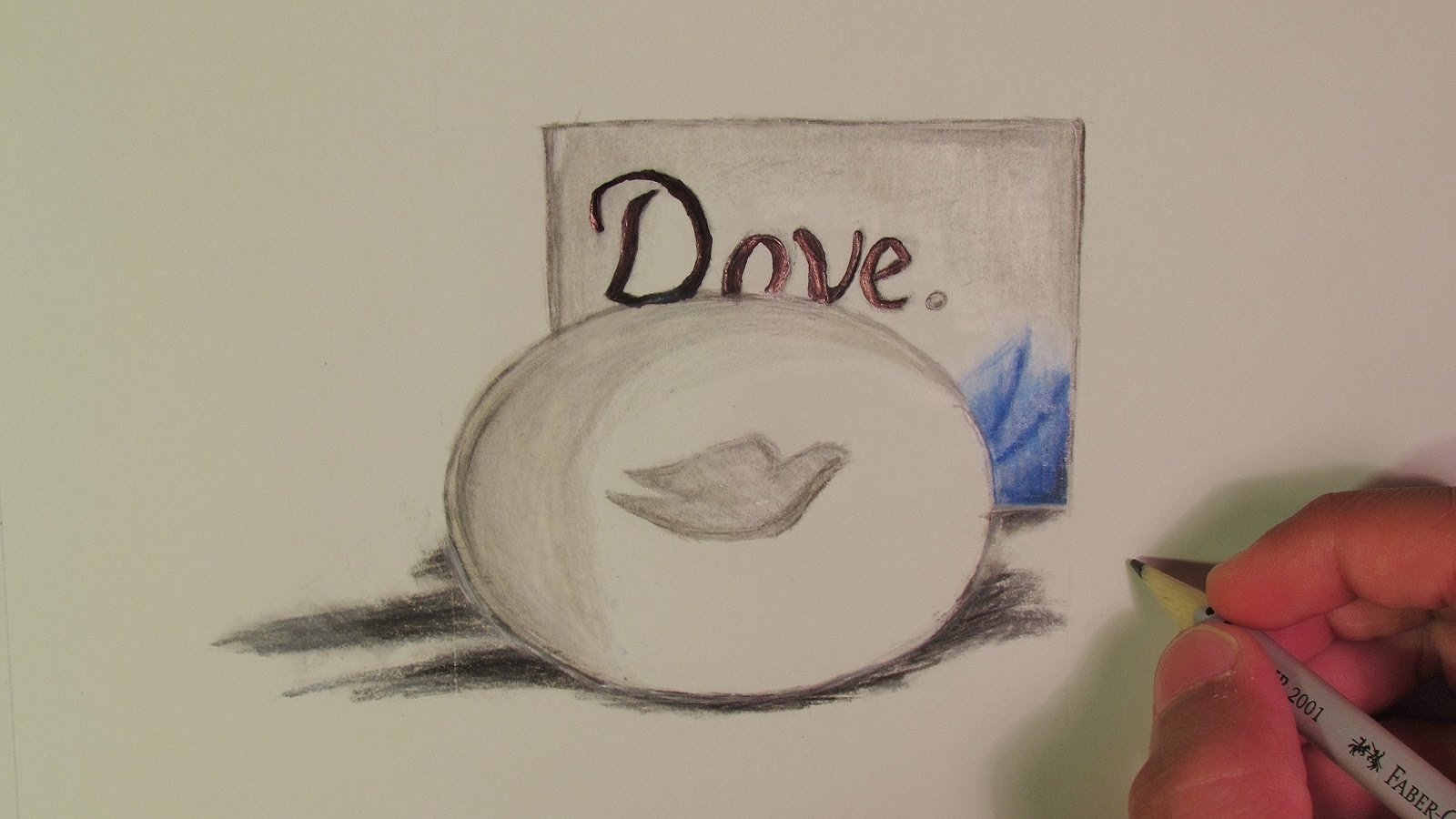 1600x900 Realistic Dove Soap (Speed Drawing)