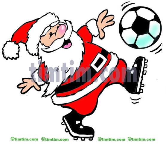 555x480 Free Drawing Of A Soccer Santa From The Category Christmas