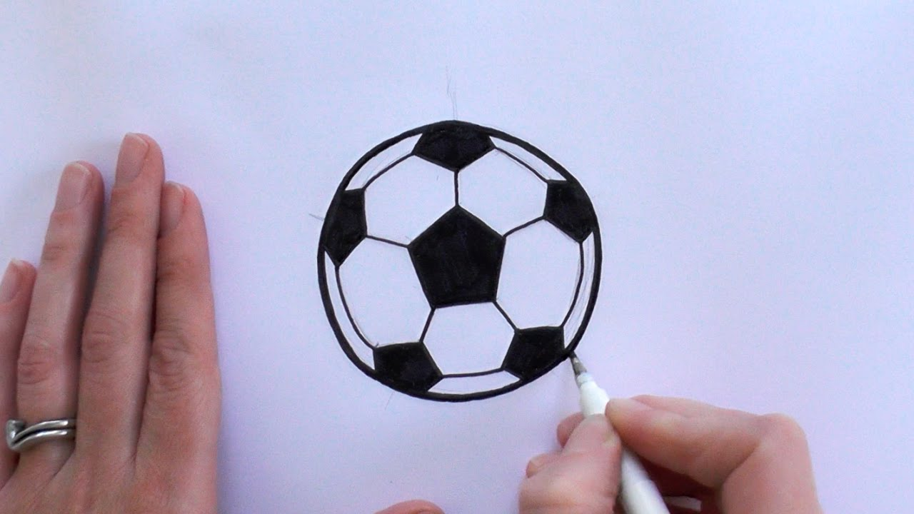 1280x720 How To Draw A Cartoon Football Soccer Ball