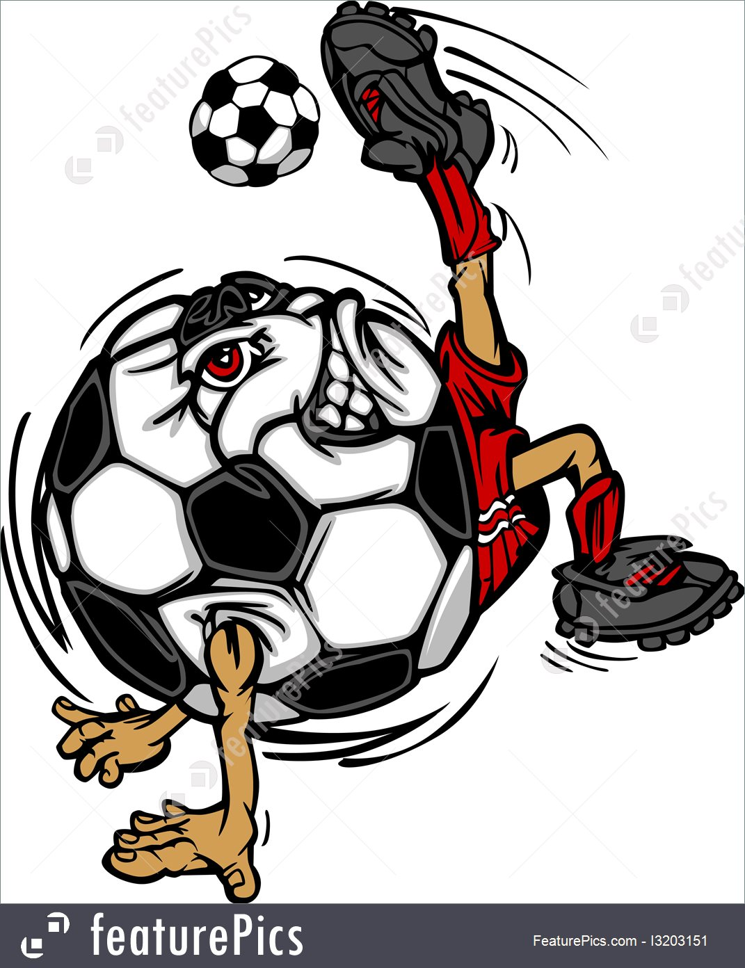 1071x1392 Illustration Of Soccer Football Ball Player Cartoon