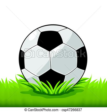 450x470 Soccer Ball Field Grass Cartoon Vector Vectors