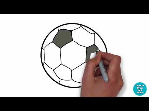 480x360 How To Draw A Soccer Ball Draw A Soccer Ball Drawing Tutorial