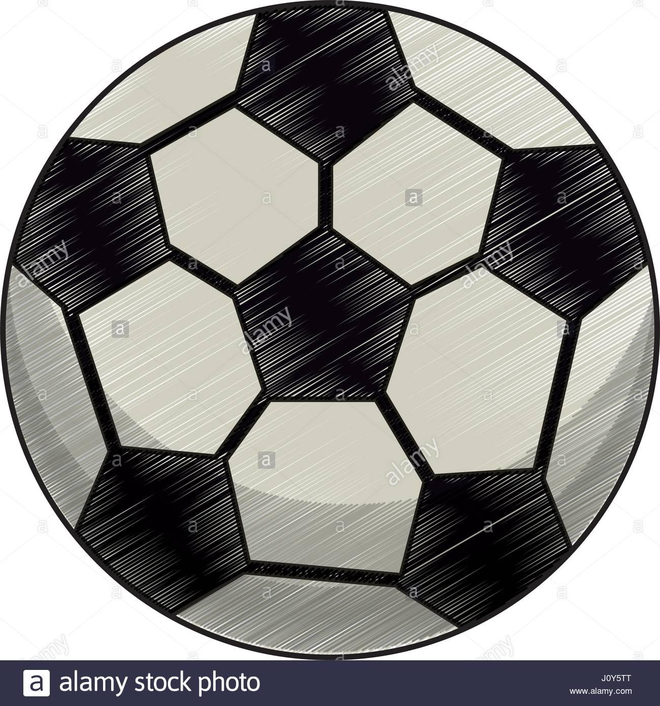 1300x1390 Drawing Soccer Ball Equipment Stock Vector Art Amp Illustration