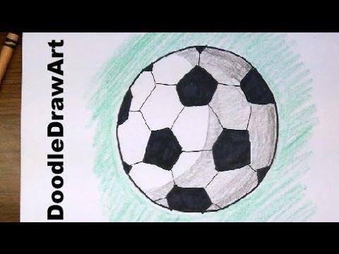 480x360 Drawing How To Draw Cartoon Soccer Balls Footballs