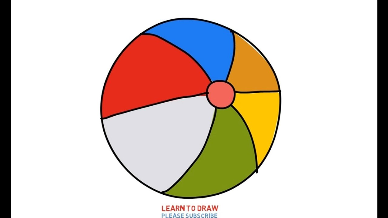 1280x720 Easy Step For Kids How To Draw Beach Ball Rainbow Color