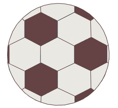 458x419 How To Draw A Soccer Ball