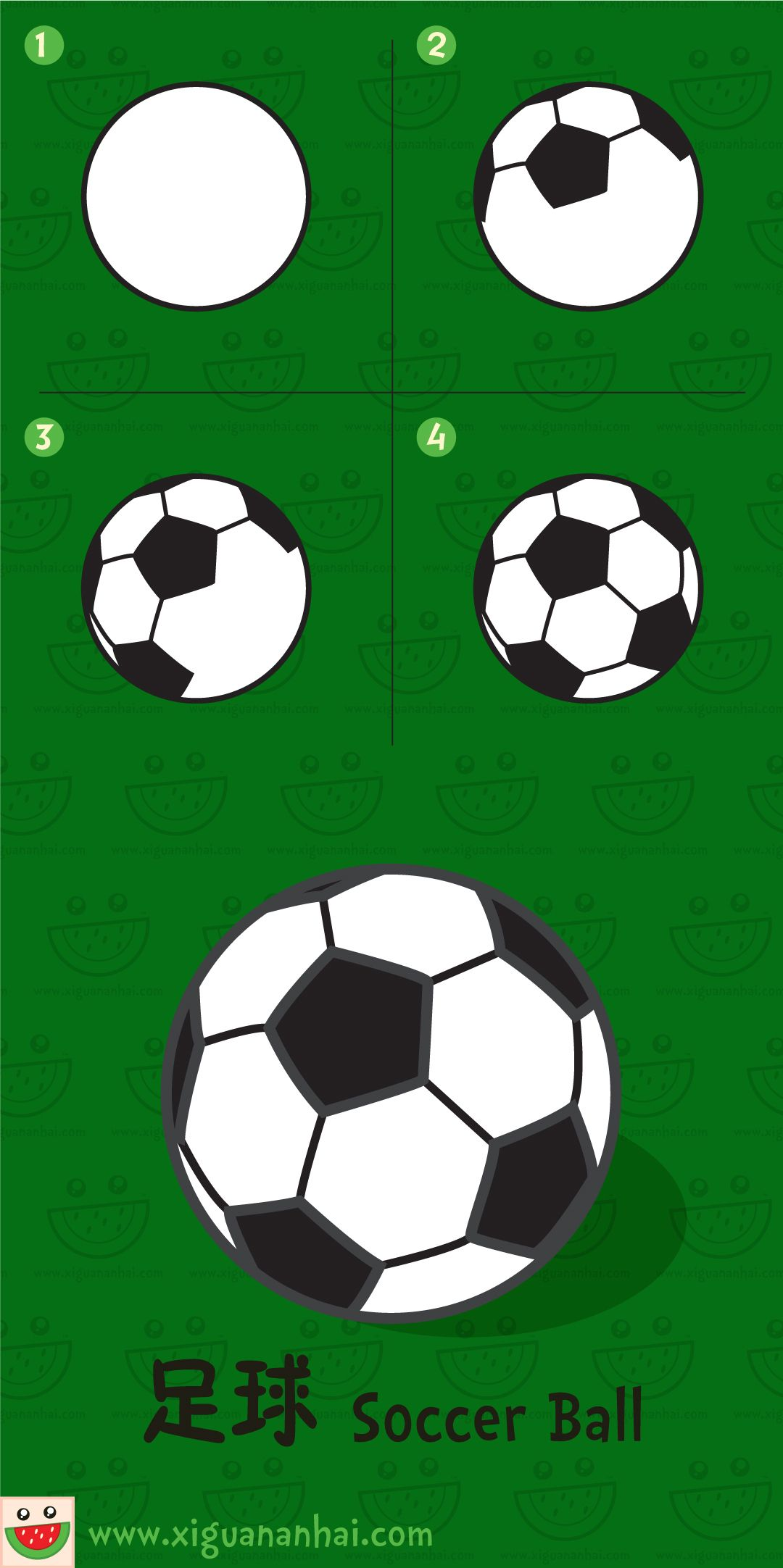 1080x2164 Soccer Ball Drawing Manufactured Items