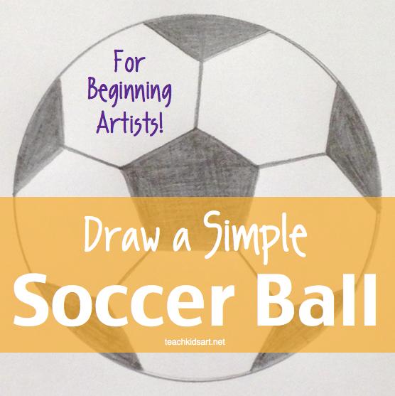 556x557 Art With Math Draw A Simple Soccer Ball Teachkidsart