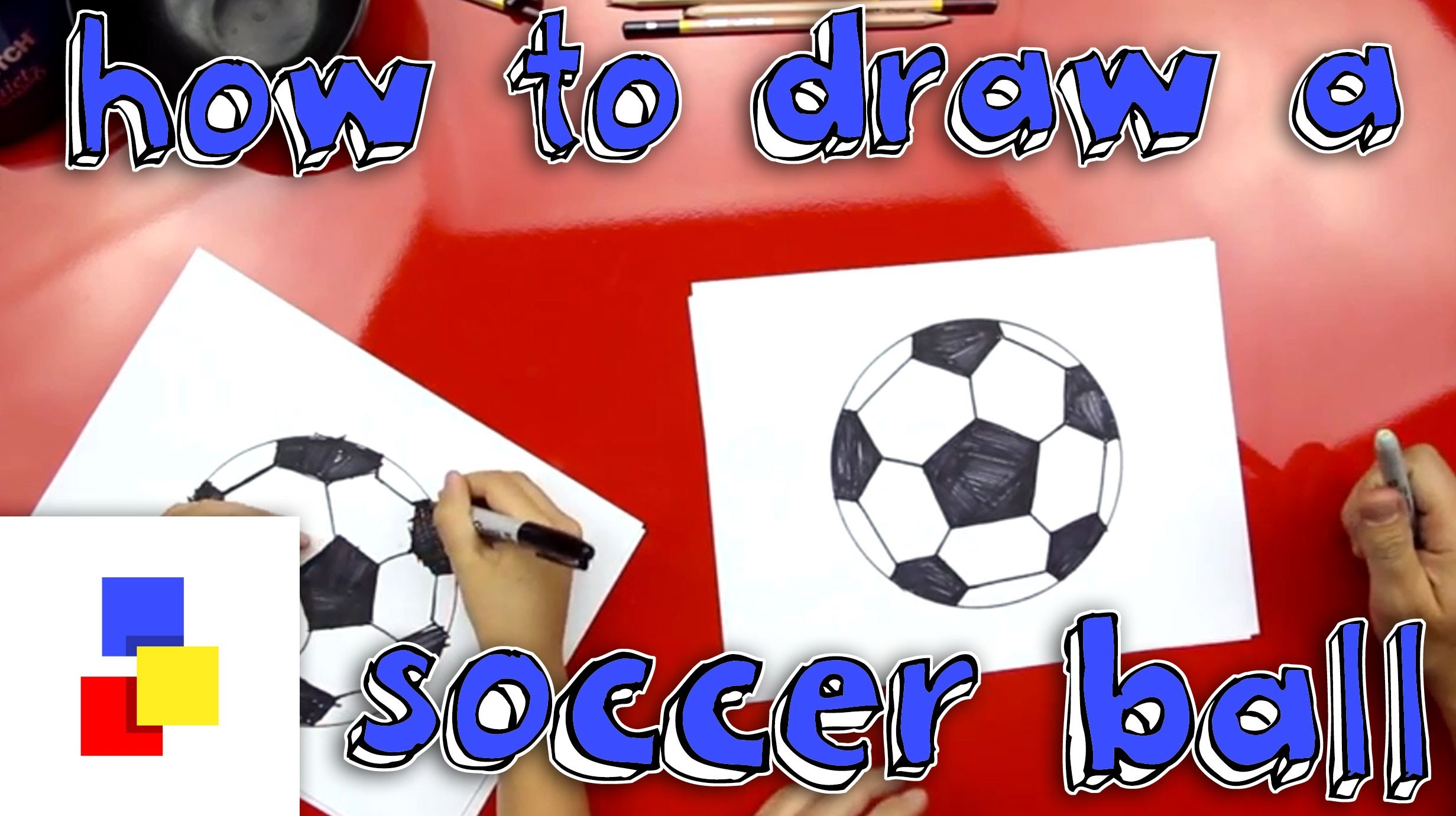 2463x1381 How To Draw A Soccer Ball
