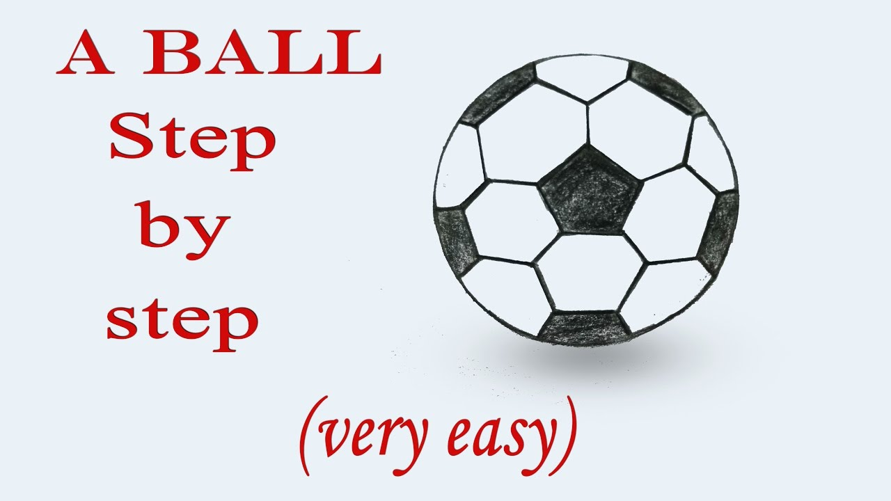 1280x720 How To Draw A Football Step By Step (Very Easy)