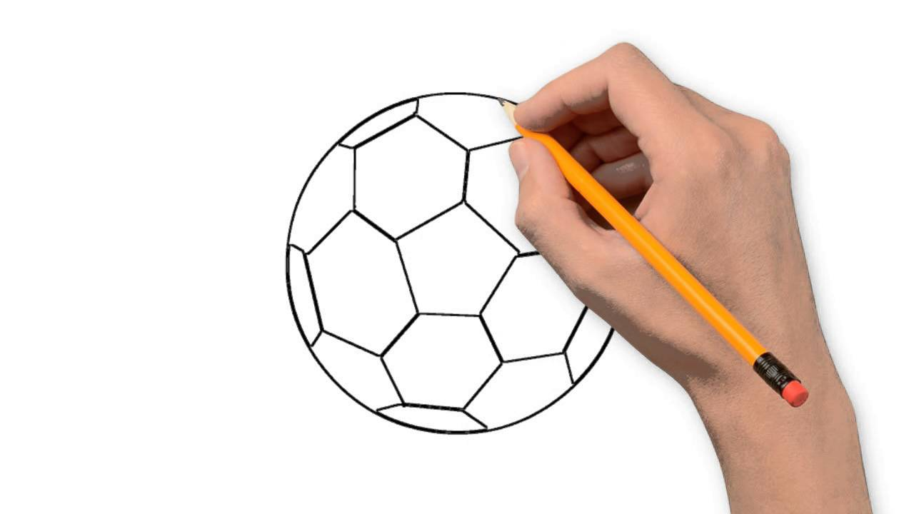 1280x720 Soccer Ball Pencil Things To Draw Step By Step