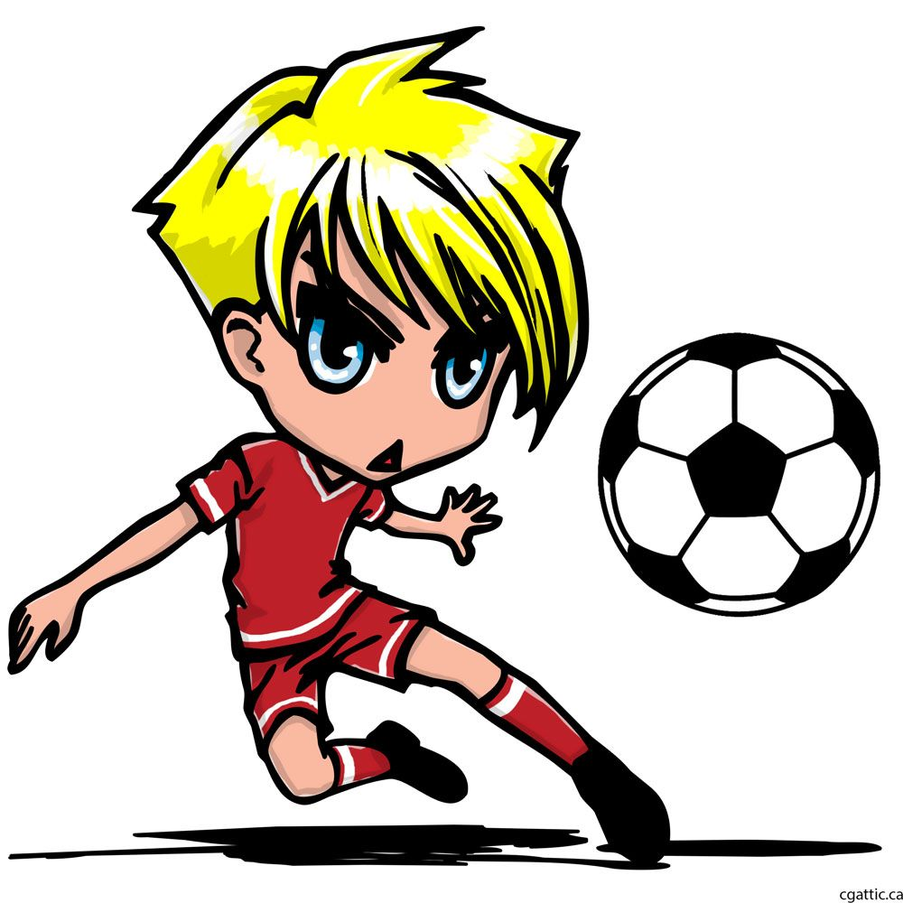 1000x1000 Cartoon Soccer Player Drawing In 4 Steps With Photoshop Soccer