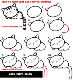 235x257 Learn How To Draw A Cute Kitten Playing On A Soccer Ball Easy Step