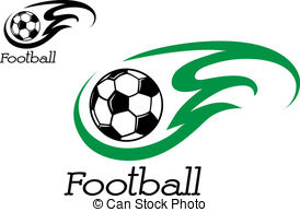 274x194 Soccer Template With Flames Vector Graphic Soccer Ball Vector