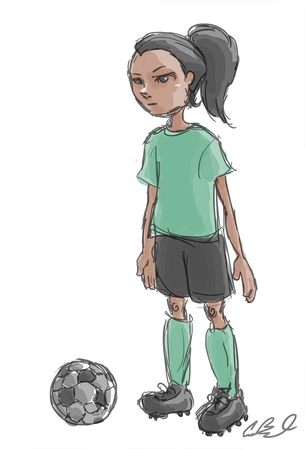 1000x1473 Cara's Art Blog 30 Day Drawing Challenge Day 3 Sport