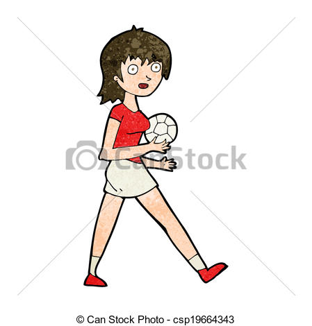 449x470 Cartoon Soccer Girl Eps Vector