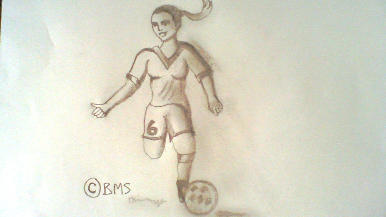 1280x720 How To Draw A Girl Soccer Football Player