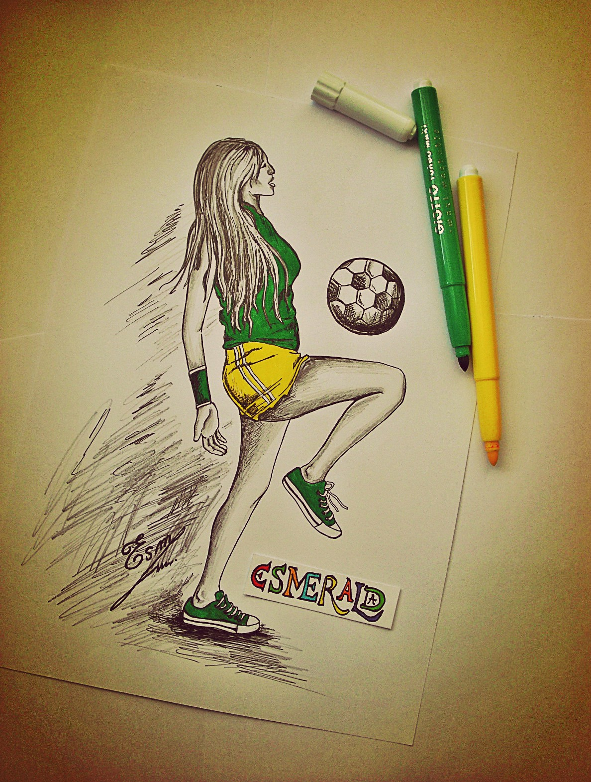 1188x1570 Sketch Soccer Girl Paintings Sketches