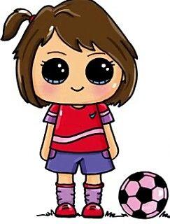243x320 Soccer Girl Love Kawaii, Girls And Drawings