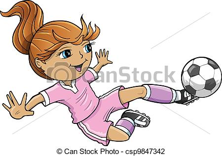 450x316 Sports Summer Soccer Girl Vector Illustration Vector Illustration