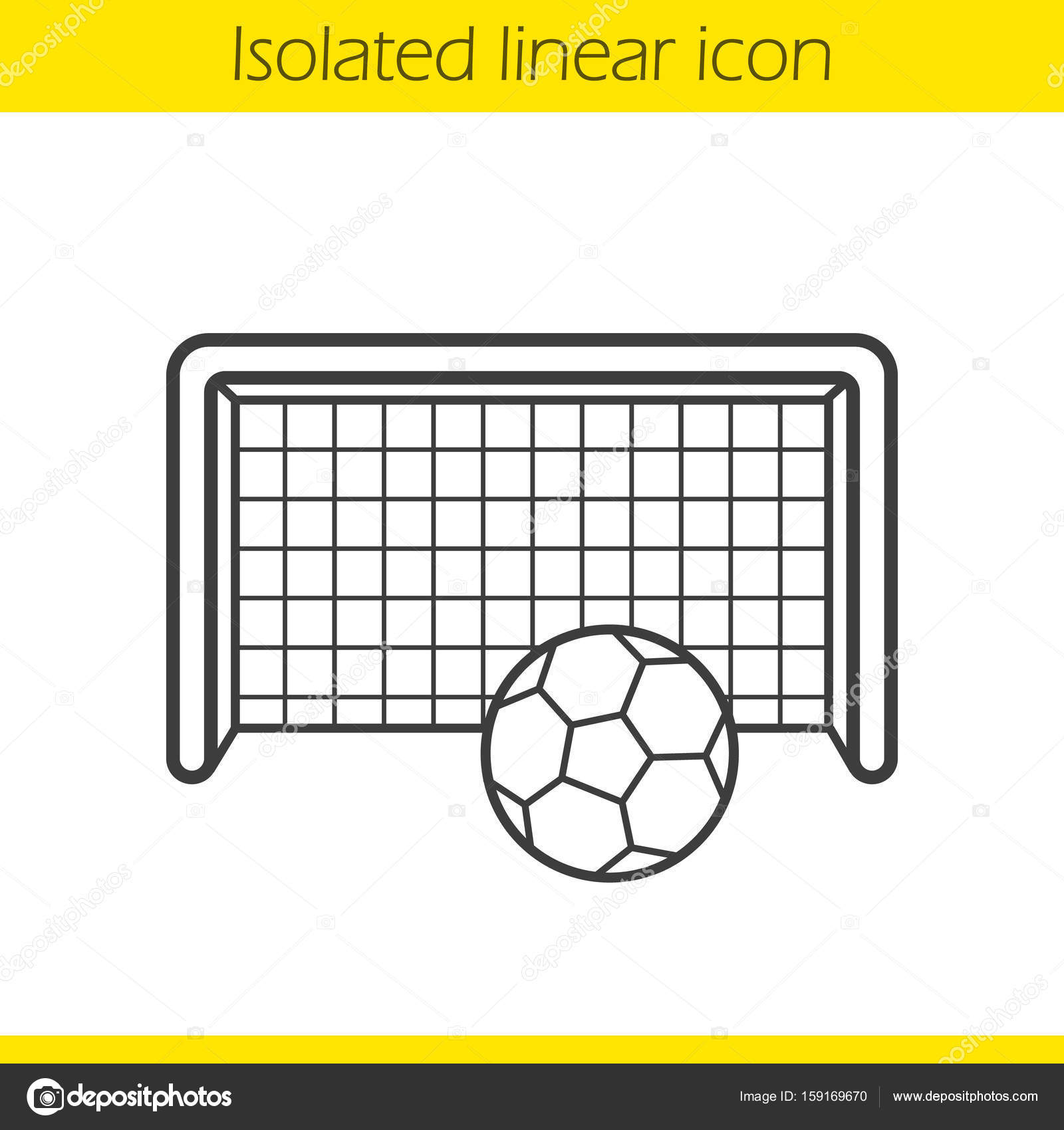 1600x1700 Soccer Goal Icon Stock Vector Bsd