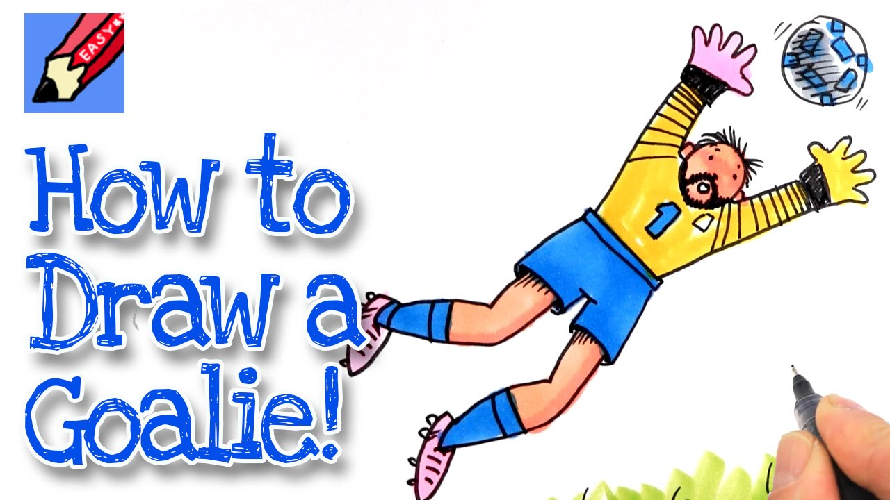 1280x720 How To Draw A Goal Keeper Real Easy