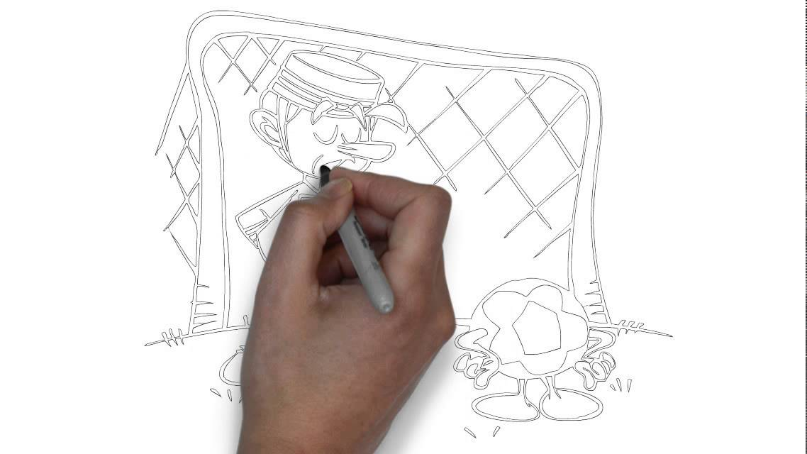1138x640 How To Draw A Soccer Goalie