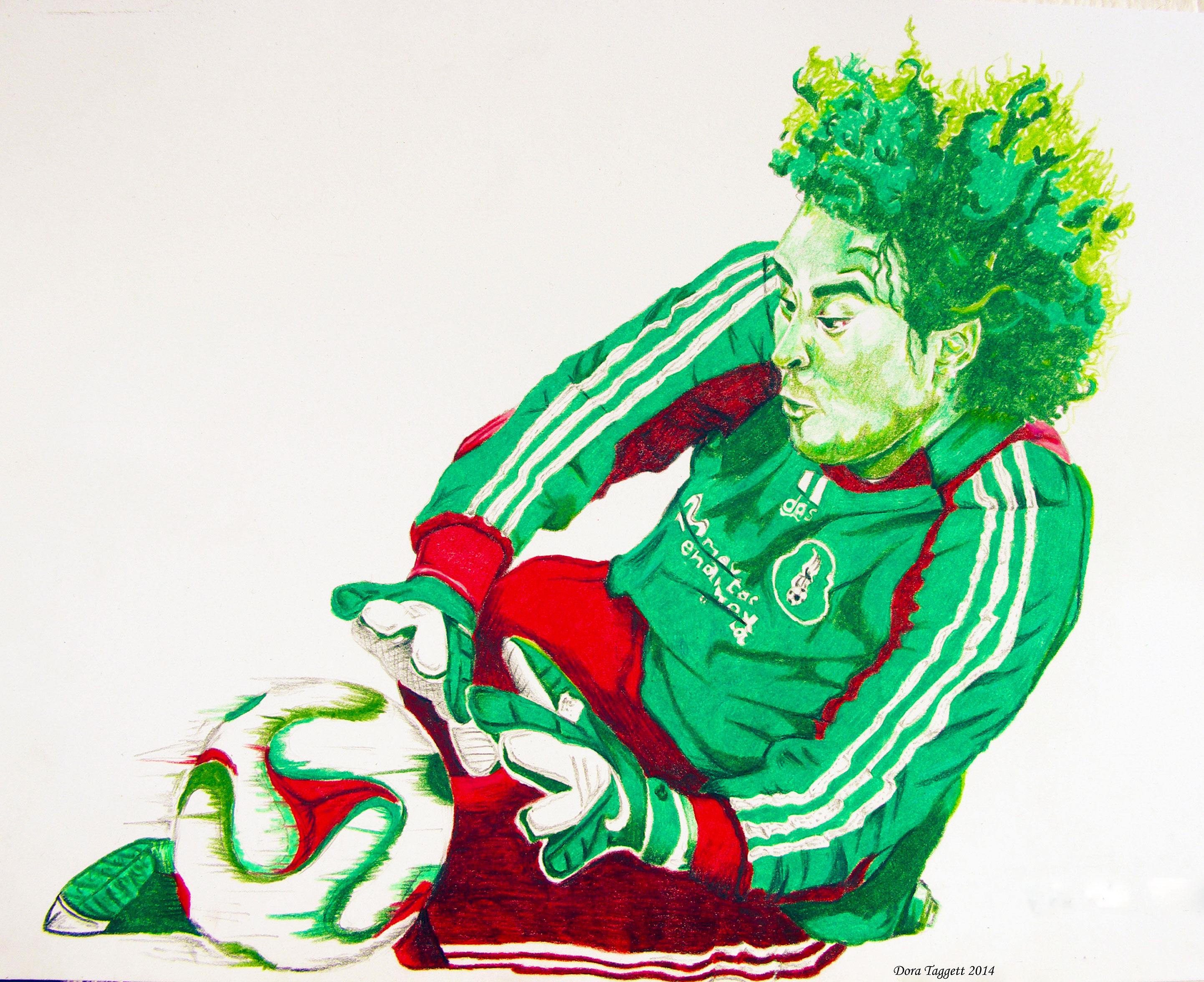 2884x2352 Soccer Goalie Drawing