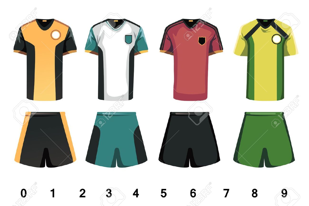 1300x866 A Vector Illustration Of Soccer Jersey Design Royalty Free
