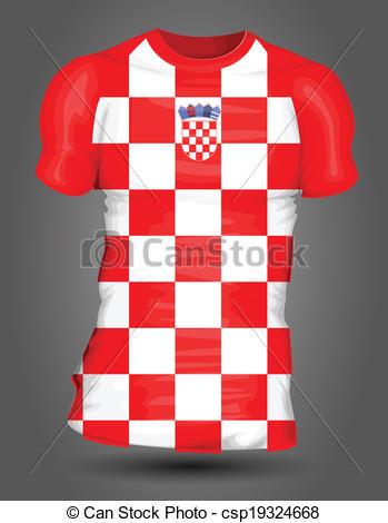349x470 Croatia Soccer Jersey Clip Art Vector