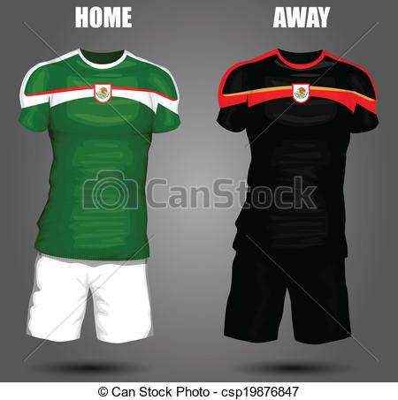 450x453 Mexico Soccer Jersey Eps Vector
