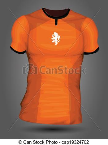 349x470 Netherlands Soccer Jersey Vector Clipart