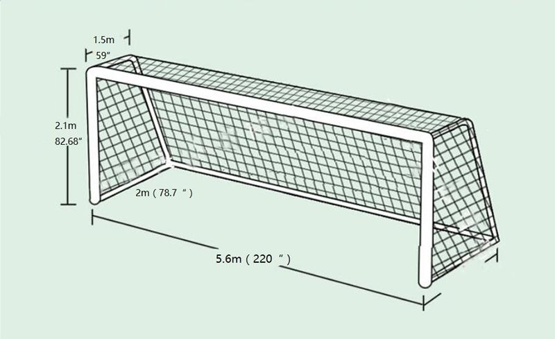 800x489 Durable Polyethylene Football Net For Soccer Goal 5.62.1ft Rain