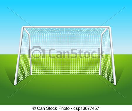 450x379 Illustration Of A Soccer Goal Clipart Vector
