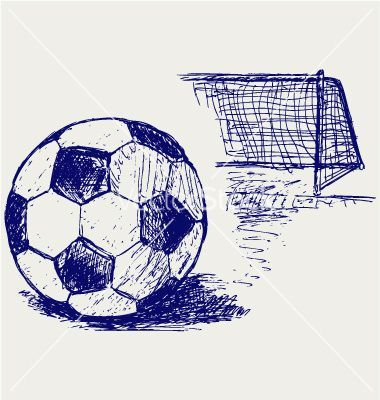380x400 Image Result For Pencil Drawing Soccer Ball Soccer And Net