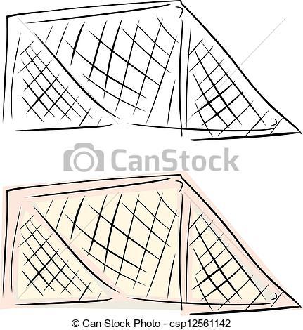 431x470 Soccer Goal Net. Ice Hockey Goal Net Over Isolated Eps Vector
