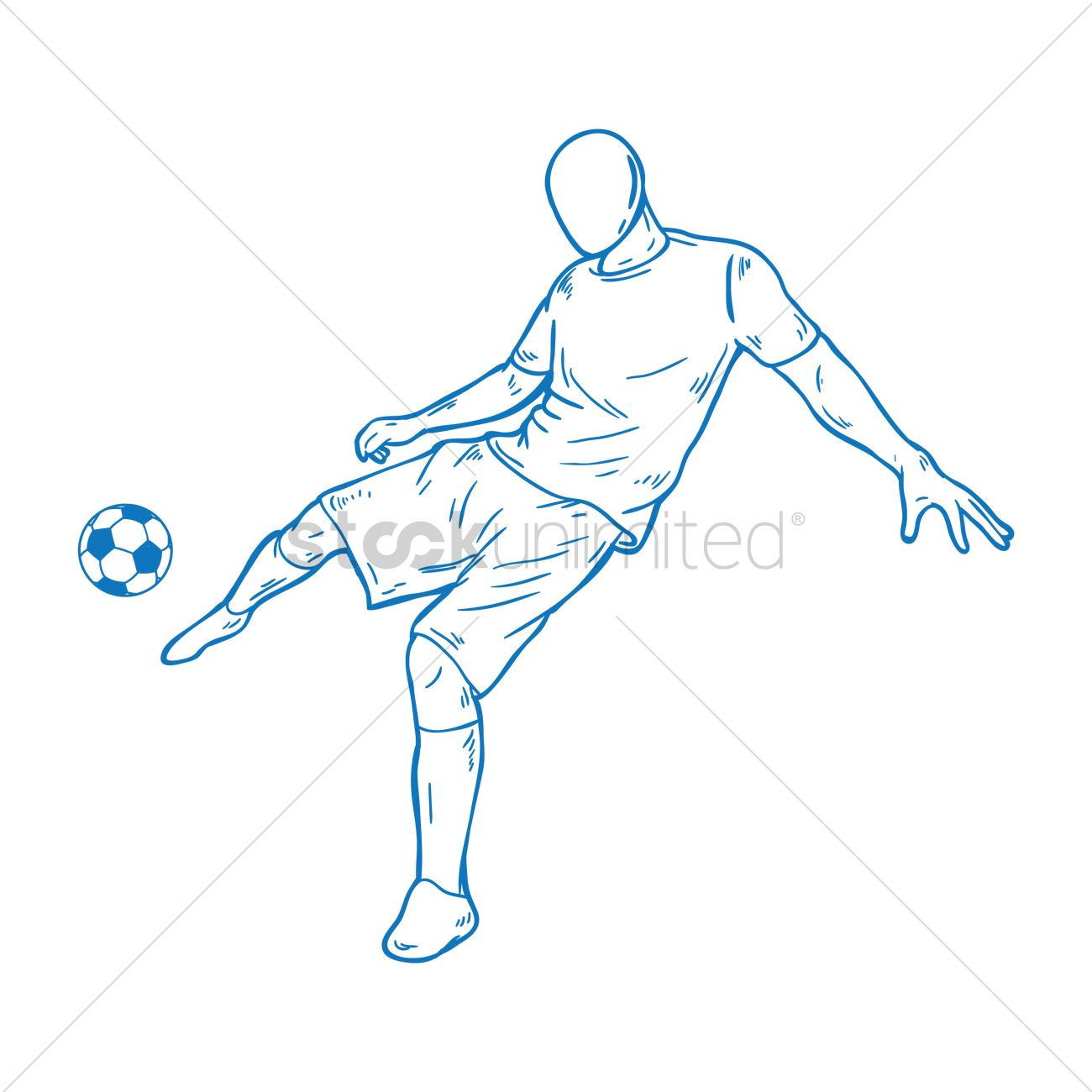 1300x1300 Free Soccer Player Kicking The Ball Vector Image