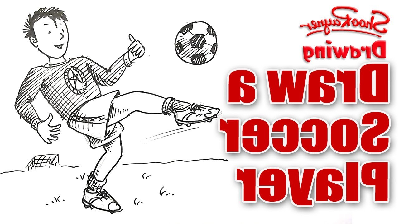 1280x720 Some Boy Football Playing Drawing How To Draw A Soccer Player
