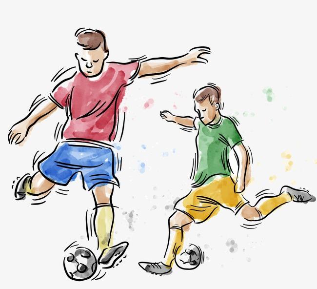 650x592 Vector Drawing Footballer, Vector, Watercolor, Soccer Player Png