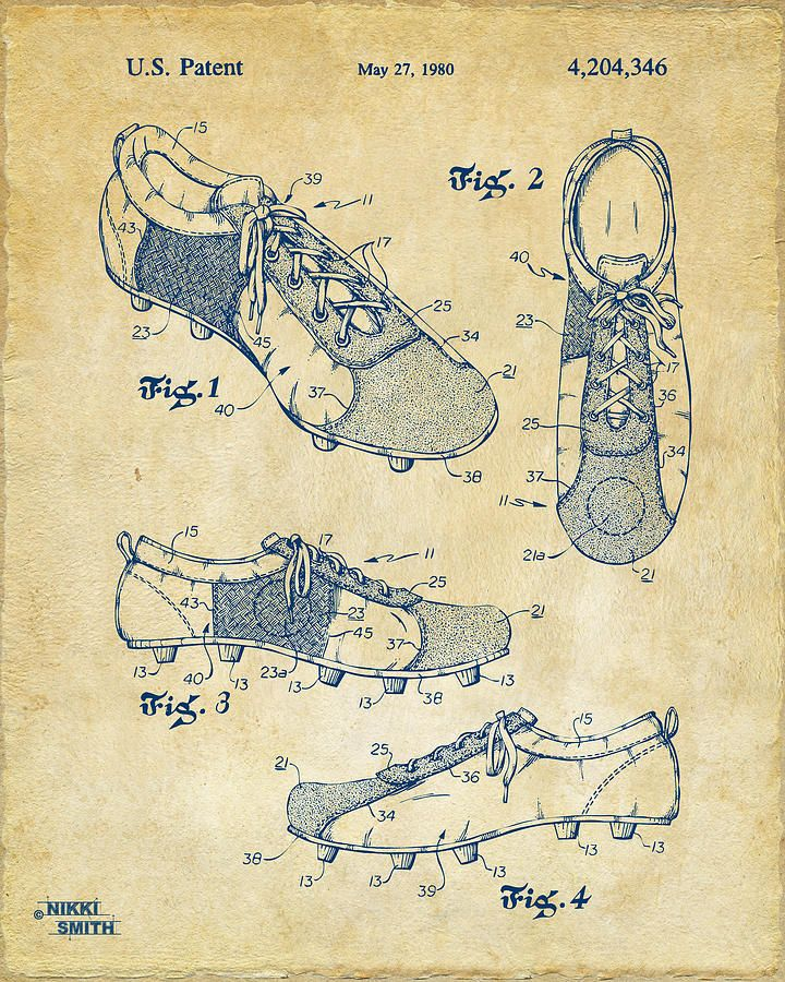720x900 1980 Soccer Shoes Patent Artwork