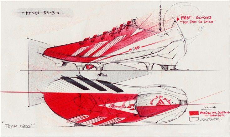 734x439 Design Sketch Of Adidas Lionel Messi F50 Adizero Trx Fg Soccer