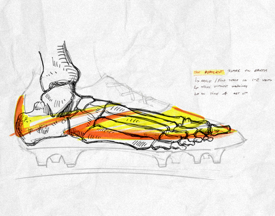 540x425 Design Sketches For The New Nike Hypervenom Soccer Cleats