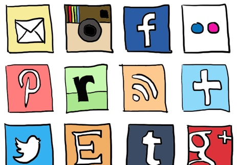 463x323 2013 Social Media Icons Drawing Doodle.jpg Drawing