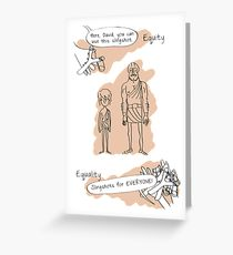 210x230 Social Justice Drawing Greeting Cards Redbubble