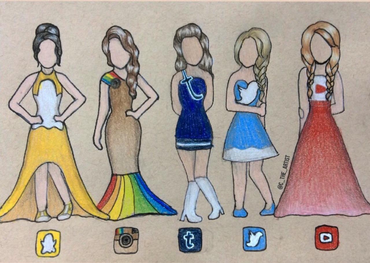 1280x912 Art For You From Me Social Media Dresses!